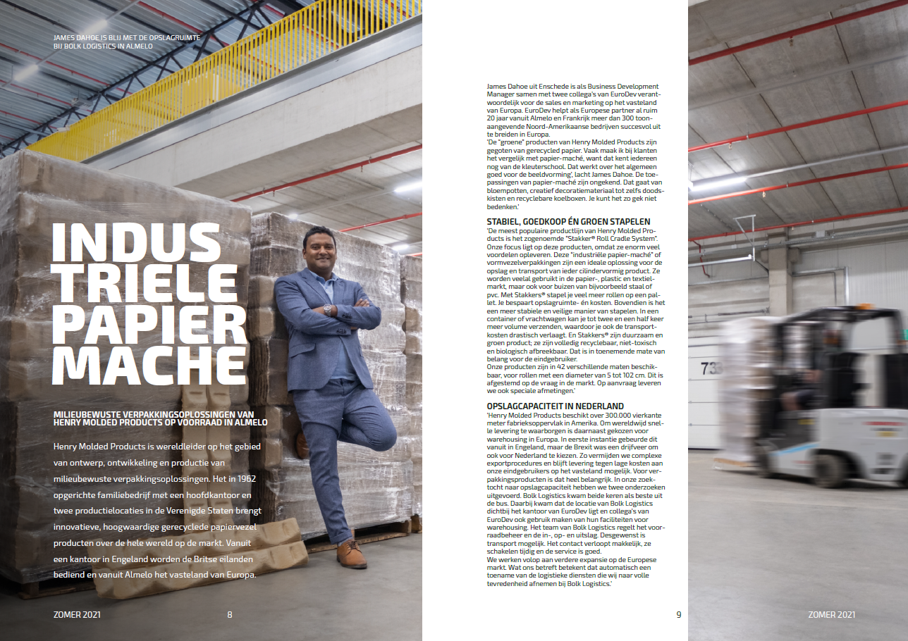 Henry Molded uses local warehousing in Europe
