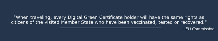 Digital Green Certificate Europe to travel to and in Europe