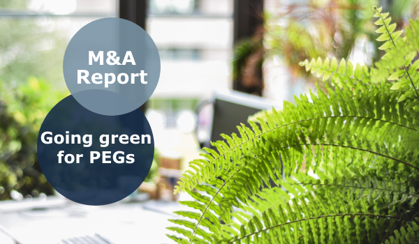 M&A Report going green